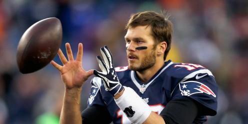 Brady catching a ball