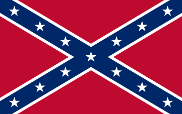 "Second National Flag - 'The Stainless Banner"". The battle flag of the Confederacy. (1863-1865)"