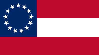 "First National Flag - ""Stars and Bars"". (1861-1863)"