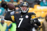 FILE - In this Sunday, Jan. 8, 2017, Pittsburgh Steelers quarterback Ben Roethlisberger (7) throws a pass during the first half of an AFC Wild Card NFL football game against the Miami Dolphins in Pittsburgh. It's not a coincidence that four superior quarterbacks are the final four left chasing a Super Bowl title. The AP examines a couple of the reasons why Tom Brady, Ben Roethlisberger, Aaron Rodgers and Matt Ryan are as good as they are, and looks at the weakness an opponent should try to exploit, Wednesday, Jan. 18, 2017. (AP Photo/Fred Vuich, File)