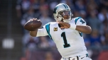 Carolina Panthers quarterback Cam Newton (1) throws a pass in action against the New England Patriots Sunday October 1, 2017 in Foxboro, Mass (Damian Strohmeyer via AP)